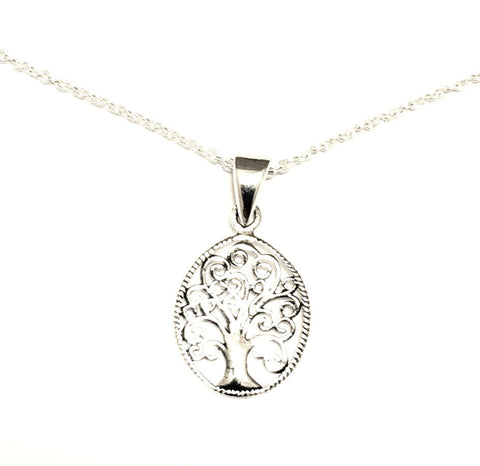 Dainty Tree of Life Sterling Silver Necklace