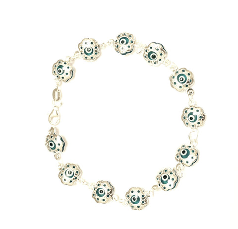 Evil Eye Light Blue Bracelet