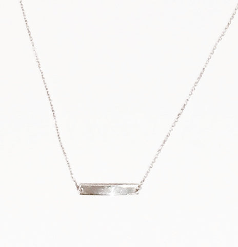 Name Plate Silver Necklace