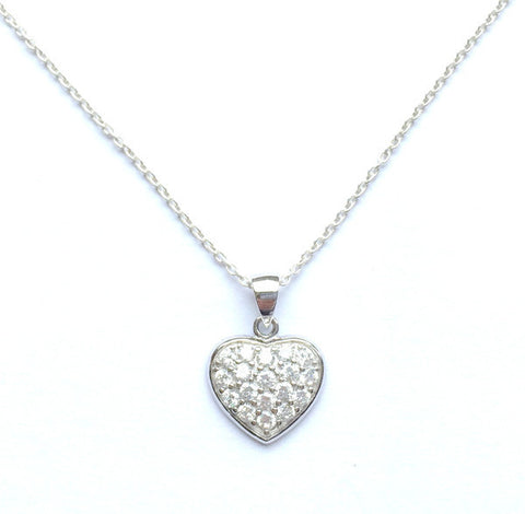Cubic Heart Necklace Set