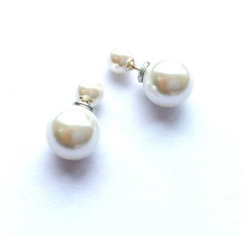 Pearl/Pearl Reversable Earrings