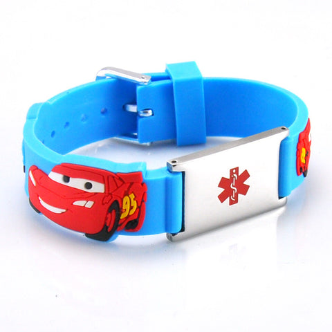 Medical Alert ID - CARS Silicone Bracelet