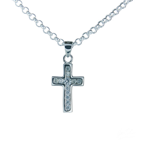 Small Glitter Cross Necklace Set