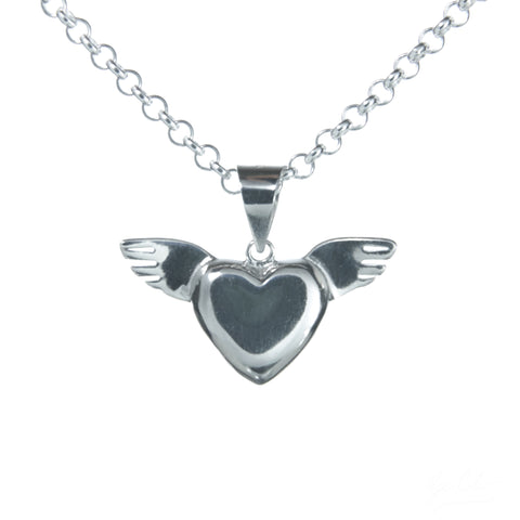 Winged Heart Necklace Set