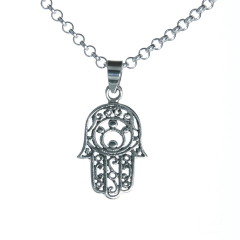 Medium Hamsa Necklace Set