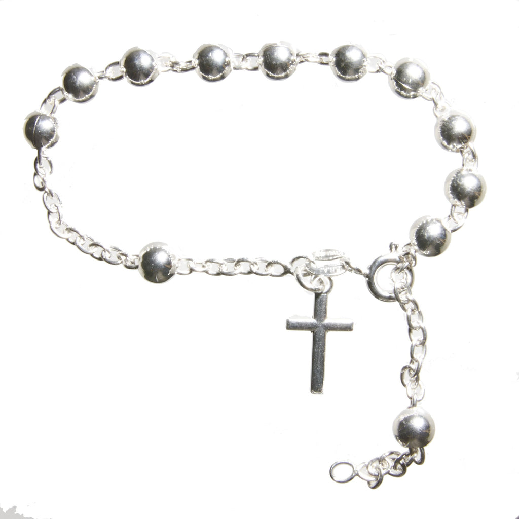 Italian Sterling Silver Rosary Bracelet Mimosura Jewellery For Kids