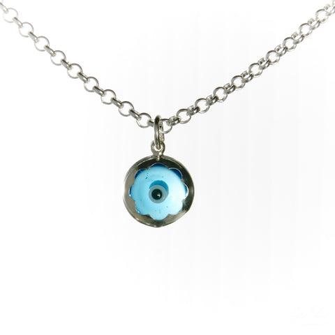 Evil Eye Necklace Set (Light Blue)