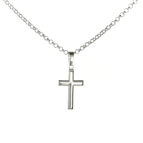 Sterling Silver Latin Cross Necklace Set