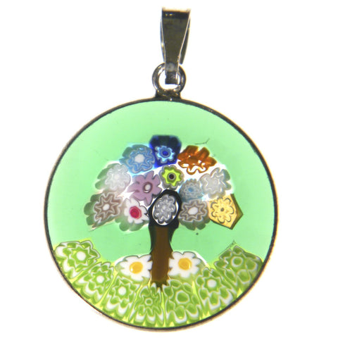 Millefiori Tree of Life Pendant (Large Green)