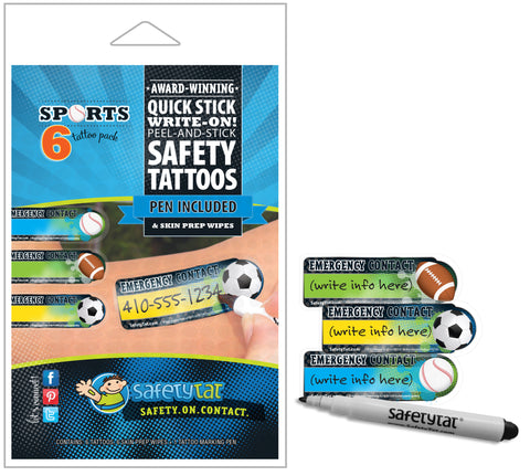 Safety Tats - Sport Collection