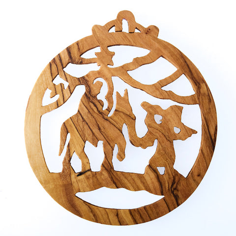 Olive Wood Christmas Decoration - Joseph and Mary  (J)