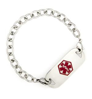Medical Alert ID - Stainless Steel Bracelet