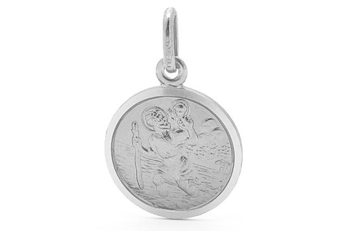 Piccolo -  St. Christopher Silver Necklace Set