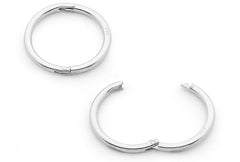 Sterling Silver Sleeper Earrings - 8mm