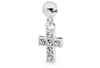 Piccolo Cubic Zirconia Cross Charm