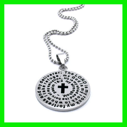 Round Cross Pendant