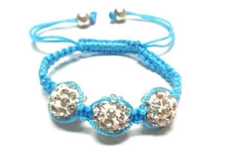 Baby Shamballa Bracelet - Light Blue