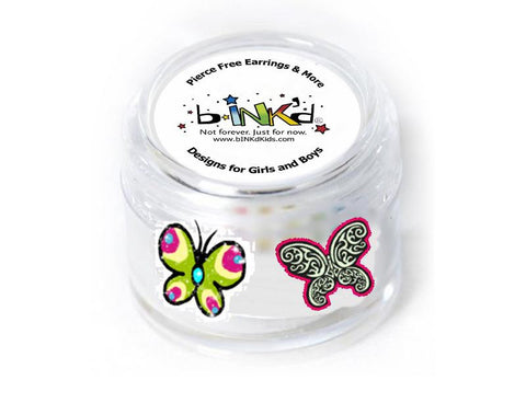 Butterfly/Glitter Butterfly Earring Tattoos