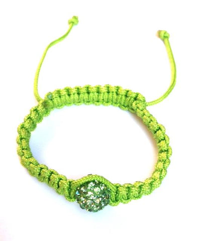 One Bead Baby Shamballa (Green)
