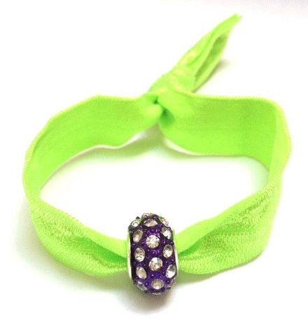 Elastic Bracelet - Neon Green and Purple
