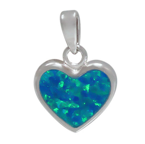 Blue Heart Necklace Set