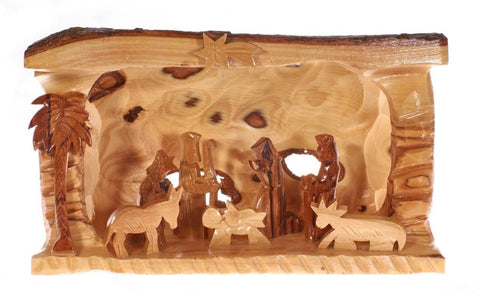 Olive Wood Christmas Nativity Set (C)
