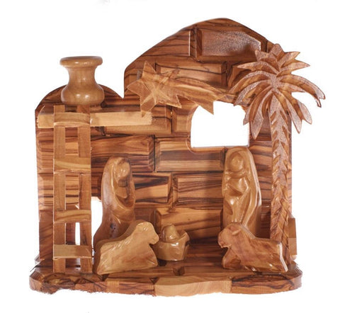 Olive Wood Christmas Nativity Set (A)
