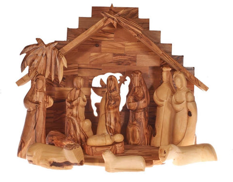 Olive Wood Christmas Nativity Set (D)