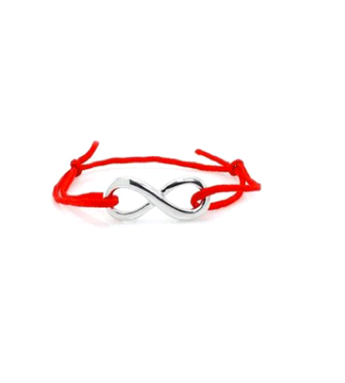 Infinity RED Friendship Bracelet
