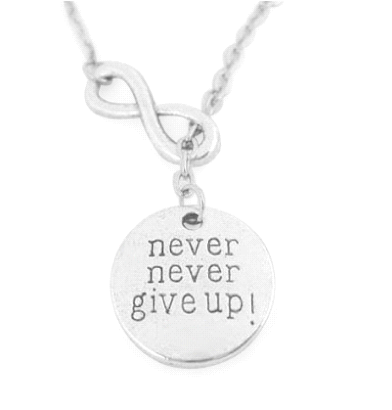 """Never Give Up"" Necklace Set"