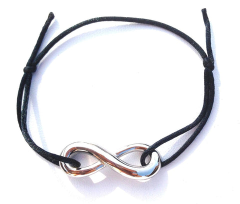 Infinity BLACK Friendship Bracelet