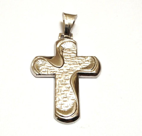 Sterling Silver Cross Pendant - 30mm