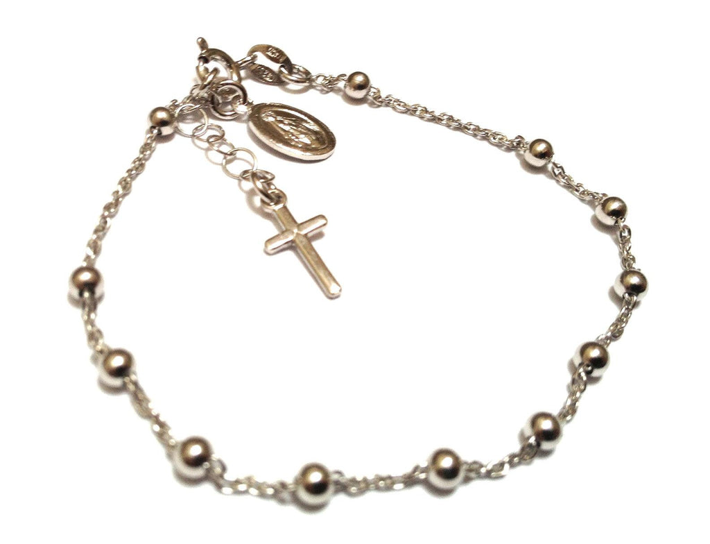 Sterling Silver Rosary Bracelet Mimosura Jewellery For Kids