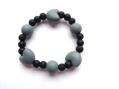 Teething Bracelet-Black and Grey Color