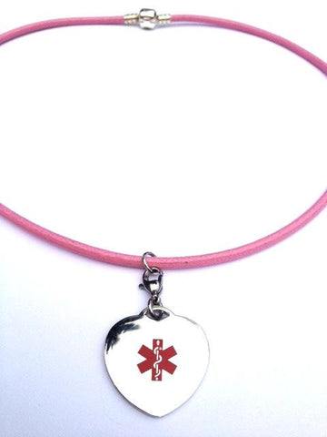 Medical Alert ID - Leather Cord with pendant