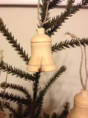 Olive Wood Christmas Decoration - BELL (H)