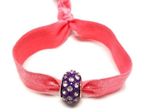 Elastic Bracelet -Pink with Purple