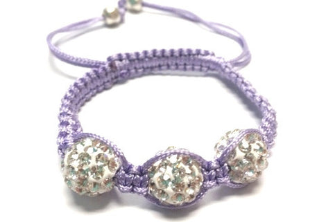 Baby Shamballa Bracelet - Light Purple