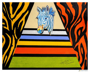 Zebra Colored Crosswalk Giclée