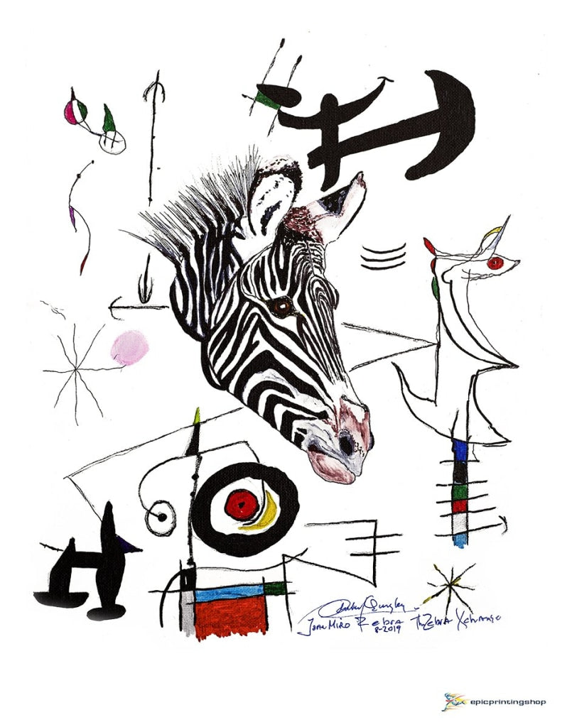 Zebra In Motion Giclée