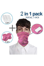 Load image into Gallery viewer, Set of 2 Bandanas Face Mask
