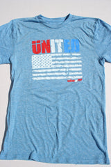 ünited flag tee Light Blue