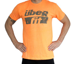 überfit logo tee Neon Orange