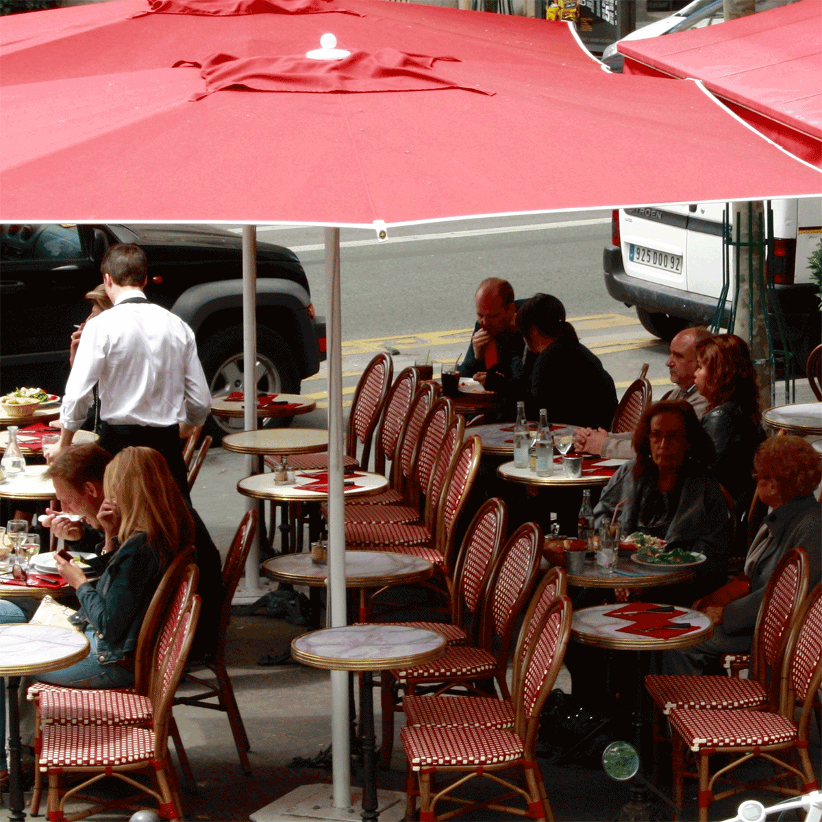 Cafe Society Paris, sidewalk cafe