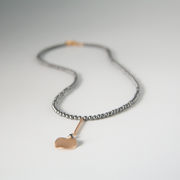 ripple disc necklace grey