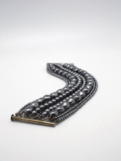 grey pearl statement nine strand cuff vivien walsh