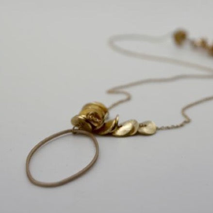 matte gold oval necklace by vivien walsh