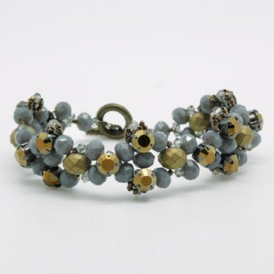 matte gold beaded crystal bracelet by vivien walsh