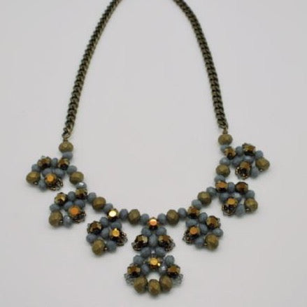 beaded crystal necklace by vivien walsh