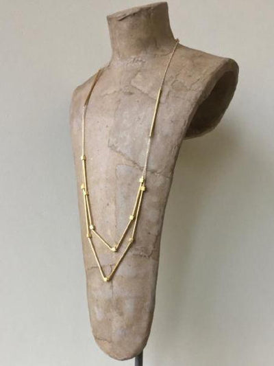gold minimalist necklace, vivien walsh jewellery